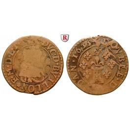Frankreich, Bouillon et Sedan, Frederic-Maurice de la Tour, Double de Sedan 1635, ge-s