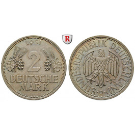 Bundesrepublik Deutschland, 2 DM 1951, Ähren, D, vz-st, J. 386