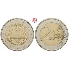 Bundesrepublik Deutschland, 2 Euro 2007, 50 Jahre Römische Verträge, nach unserer Wahl, bfr., J. 528