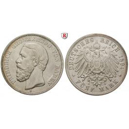 Deutsches Kaiserreich, Baden, Friedrich I., 5 Mark 1894, G, ss+, J. 29