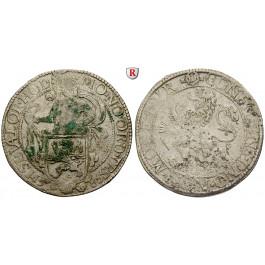 Niederlande, Overijssel, Löwentaler 1585, f.ss