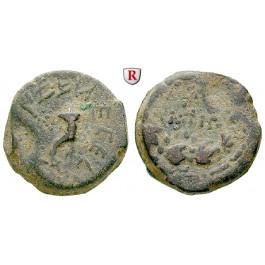 Judaea - Hasmonäer, Mattathias Antigonos, Bronze 40-37 v.Chr., ss