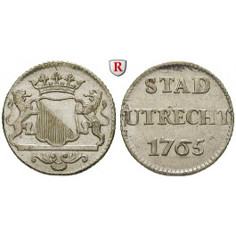 Niederlande, Utrecht, Duit 1765, f.vz