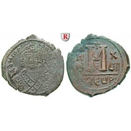 Byzanz, Mauricius Tiberius, Follis 596, ss