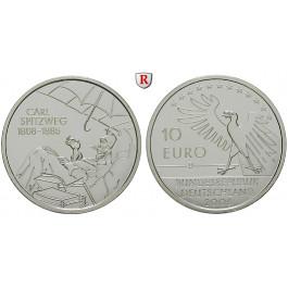 Bundesrepublik Deutschland, 10 Euro 2008, Carl Spitzweg, D, PP, J. 533