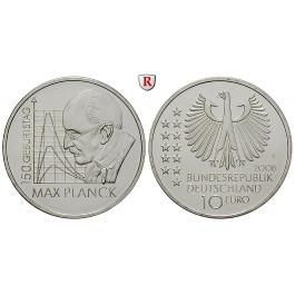 Bundesrepublik Deutschland, 10 Euro 2008, Max Planck, F, bfr., J. 535