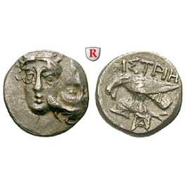 Thrakien-Donaugebiet, Istros, Trihemiobol um 350 v.Chr., ss-vz