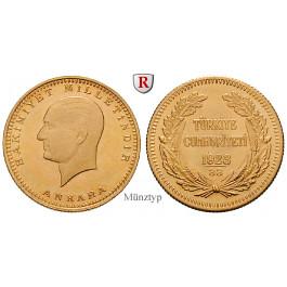 Türkei, 100 Piaster 1943-1981, 6,62 g fein, vz
