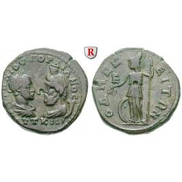 Römische Provinzialprägungen, Thrakien, Odessos, Gordianus III., Bronze, ss
