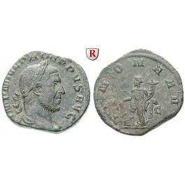 Römische Kaiserzeit, Philippus I., Sesterz, ss-vz