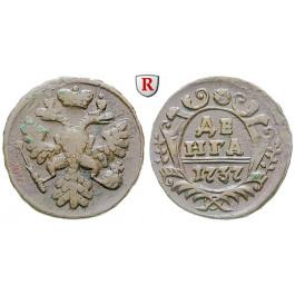 Russland, Anna, Denga 1737, ss-vz