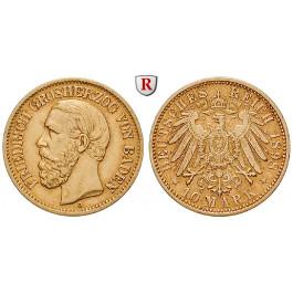 Deutsches Kaiserreich, Baden, Friedrich I., 10 Mark 1898, G, ss+/ss-vz, J. 188