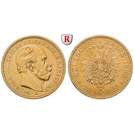 Deutsches Kaiserreich, Preussen, Wilhelm I., 20 Mark 1883, A, ss-vz, J. 246