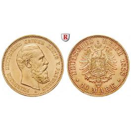Deutsches Kaiserreich, Preussen, Friedrich III., 10 Mark 1888, A, f.st, J. 247