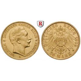 Deutsches Kaiserreich, Preussen, Wilhelm II., 20 Mark 1912, A, vz, J. 252