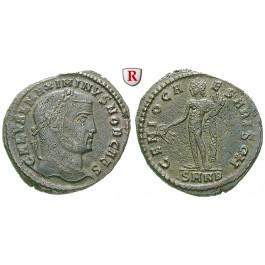 Römische Kaiserzeit, Maximinus II., Caesar, Follis 308-309, ss
