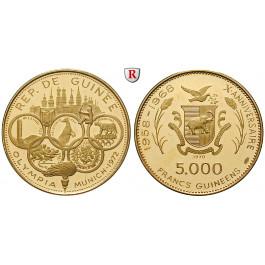 Guinea, 5000 Francs 1970, 18,0 g fein, PP