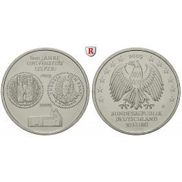 Bundesrepublik Deutschland, 10 Euro 2009, Universität Leipzig, A, bfr., J. 545