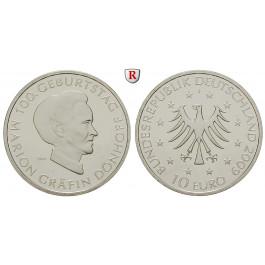 Bundesrepublik Deutschland, 10 Euro 2009, Marion Gräfin Dönhoff, J, PP, J. 548