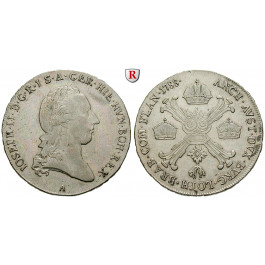 Römisch Deutsches Reich, Joseph II., 1/2 Kronentaler 1788, ss