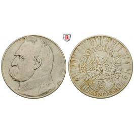 Polen, 2. Republik, 10 Zlotych 1934, f.vz