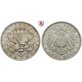 Deutsches Kaiserreich, Bremen, 2 Mark 1904, J, vz+, J. 59