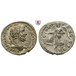 Römische Kaiserzeit, Septimius Severus, Denar 198-202, vz