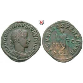 Römische Kaiserzeit, Gordianus III., Sesterz 243-244, ss-vz