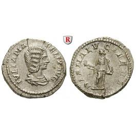 Römische Kaiserzeit, Julia Domna, Frau des Septimius Severus, Denar 214, ss-vz