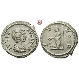 Römische Kaiserzeit, Julia Domna, Frau des Septimius Severus, Denar 202, vz