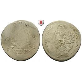 Ulm, Reichsstadt, 7 Kreuzer 1758, s