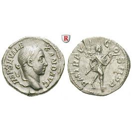 Römische Kaiserzeit, Severus Alexander, Denar 228, ss-vz