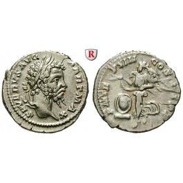 Römische Kaiserzeit, Septimius Severus, Denar 200, vz/ss