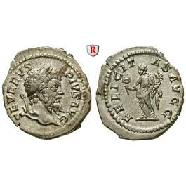 Römische Kaiserzeit, Septimius Severus, Denar 205, vz