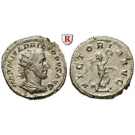 Römische Kaiserzeit, Philippus I., Antoninian 244-247, f.st