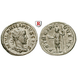 Römische Kaiserzeit, Philippus II., Caesar, Antoninian 245-246, f.st