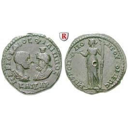 Römische Provinzialprägungen, Thrakien, Tomis, Philippus II., Caesar, Bronze 244-247, ss+