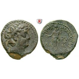 Syrien, Königreich der Seleukiden, Demetrios II., 2. Regierung, Bronze 129-125 v.Chr., ss+