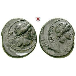 Römische Provinzialprägungen, Mysien, Pergamon, Autonome Prägungen, Bronze ca. 40-60, ss