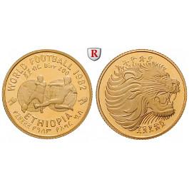 Äthiopien, Sozialistische Republik, 200 Birr 1982, 6,42 g fein, PP