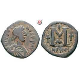 Byzanz, Justin I., Follis 518-527, ss+