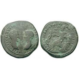 Römische Provinzialprägungen, Thrakien-Donaugebiet, Markianopolis, Macrinus, Bronze 217-218, f.ss/ss+