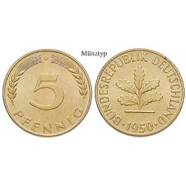 Bundesrepublik Deutschland 5 Pfennig 1950 F St J 382