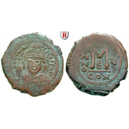 Byzanz, Mauricius Tiberius, Follis 586-587, Jahr 5, ss