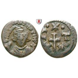 Byzanz, Constans II., Halbfollis (20 Nummi) 641-668, s+