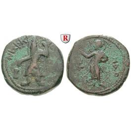 Baktrien und Indien, Kuschan, Kanishka I., Bronze 130-158, s-ss