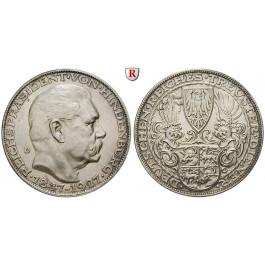Personenmedaillen, Hindenburg, Paul von - Deutscher Generalfeldmarschall, Silbermedaille 1927, vz
