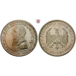 Weimarer Republik, 5 Reichsmark 1927, Uni Tübingen, F, vz-st, J. 329