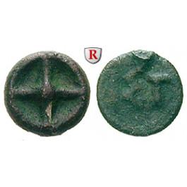 Thrakien-Donaugebiet, Istros, Bronze 420-400 v.Chr., ss/s