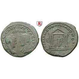 Römische Provinzialprägungen, Thrakien-Donaugebiet, Markianopolis, Caracalla, Bronze 198-217, f.ss/ss+